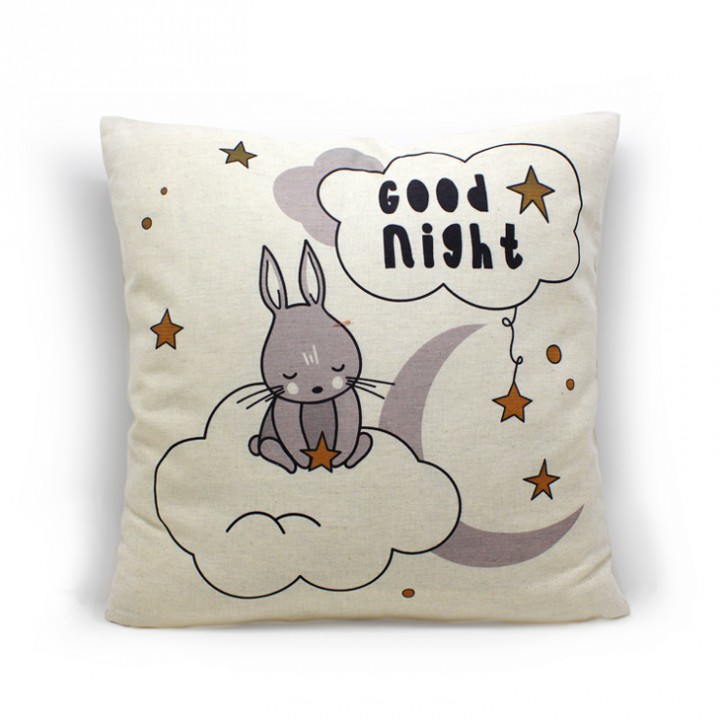 Наволочки для декоративных подушек. Доброй ночи кролик