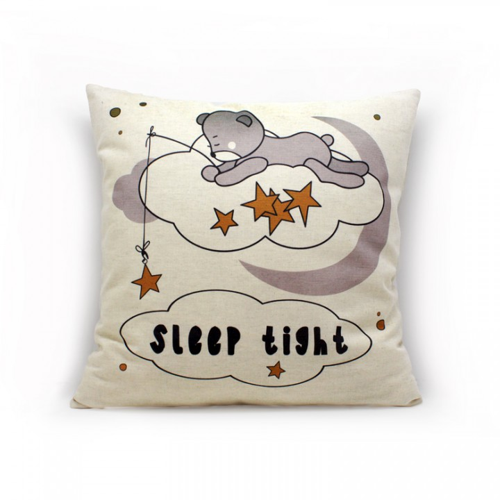 Наволочки для декоративных подушек. Доброй ночи мишка