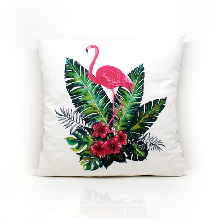 Наволочки для декоративных подушек. Фламинго