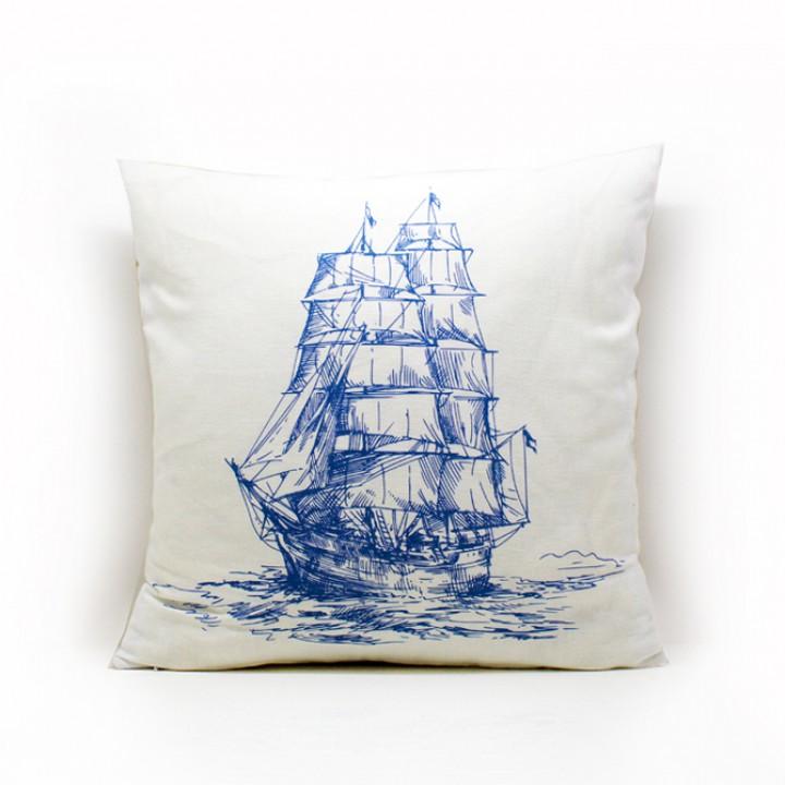 Наволочки для декоративных подушек. Кораблик
