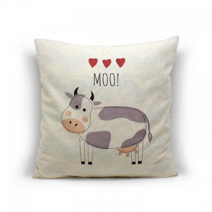 Наволочки для декоративных подушек. Корова
