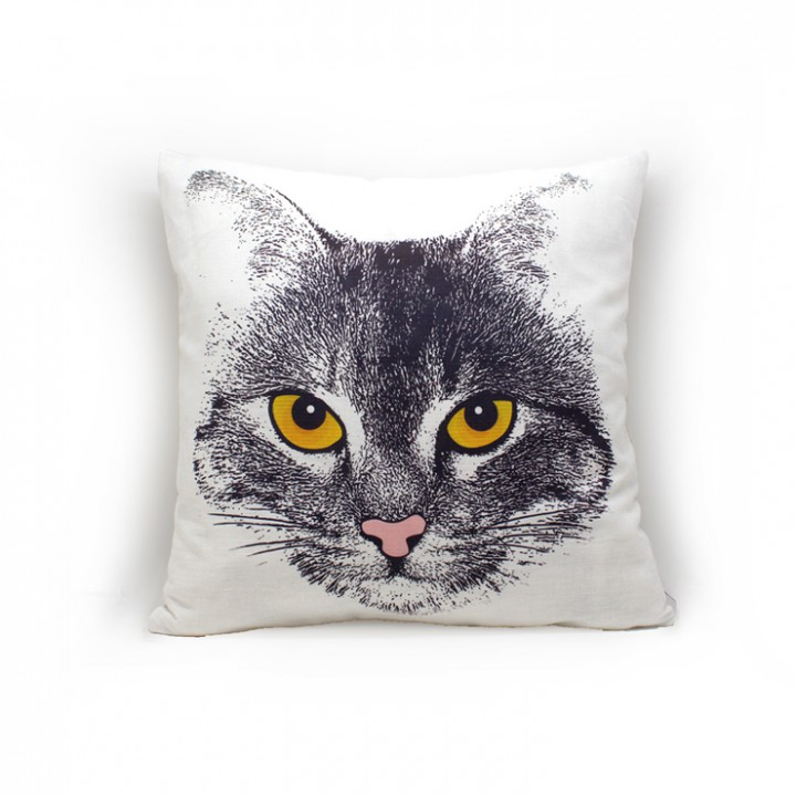 Наволочки для декоративных подушек. Кот