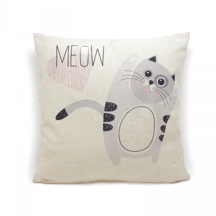 Наволочки для декоративных подушек. Котик мяу
