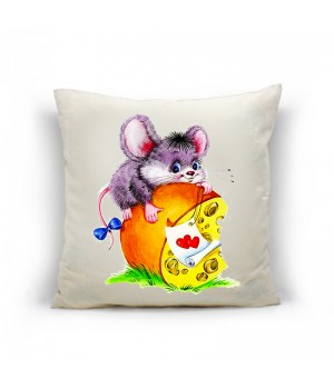 Мышка бантик Наволочка декоративная