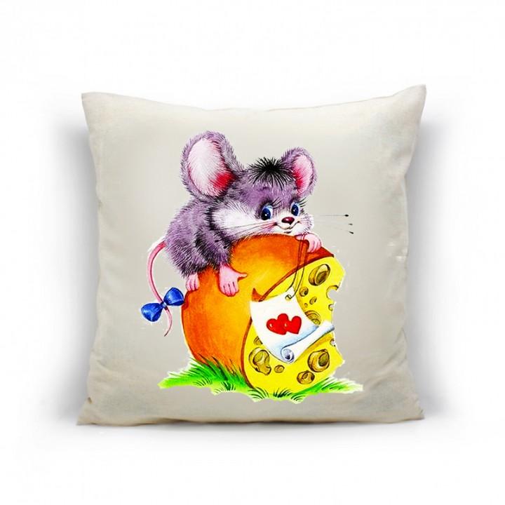 Наволочки для декоративных подушек. Мышка бантик
