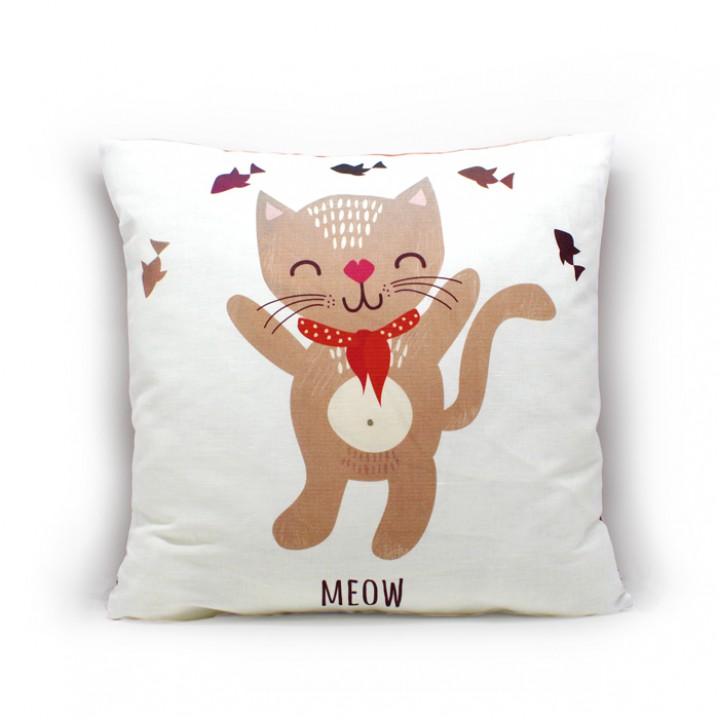 Наволочки для декоративных подушек. Мяу