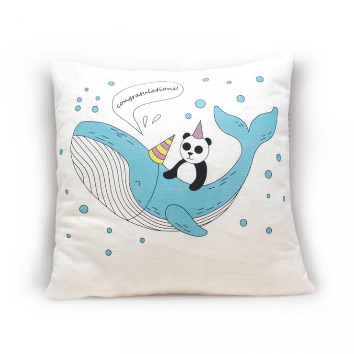 Наволочки для декоративных подушек. Панда на ките