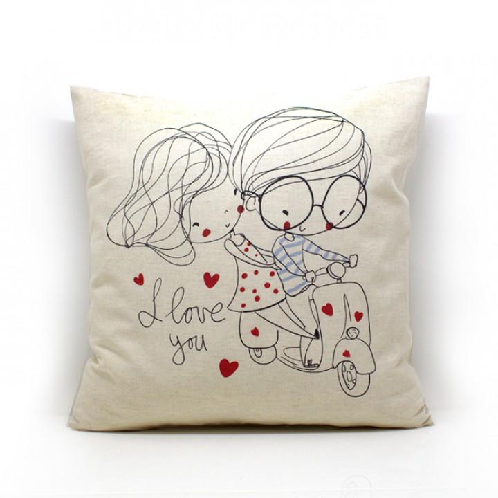 Наволочки для декоративных подушек. Романтик