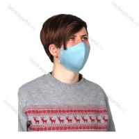 Многоразовая маска (повязка) для лица  однотононные, сатин, L, ассортимент, на резинках