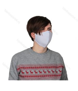 Многоразовая маска для лица белая L -трикотажная