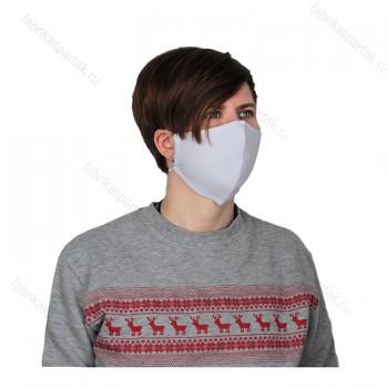 Многоразовая маска для лица белая S -трикотажная