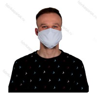 Многоразовая маска (повязка) для лица из бязи на резинках