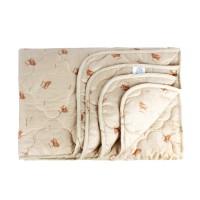 Одеяло 2 спальное (172х205) облегченное (150 гр/м2) , шерсть овечья + полиэстер