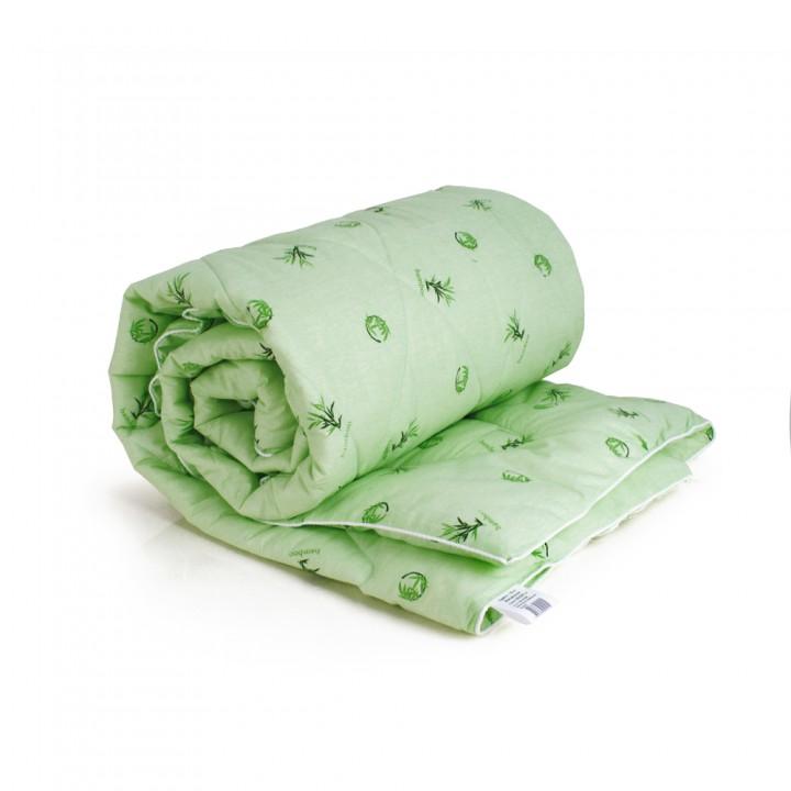 Одеяло ЕВРО (195х210) всесезонное (300 гр/м2) , бамбук + поплин