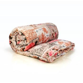 Овечья шерсть евро 195х210  всесезонное одеяло полиэстер