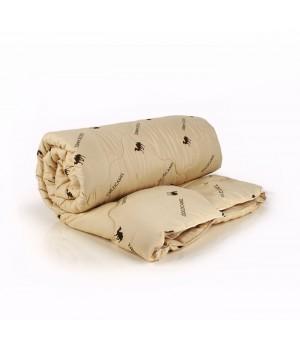 Верблюжья шерсть 1.5сп. 150х205 всесезонное одеяло полисатин