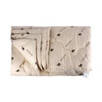 Одеяло 1.5 спальное (150х205) всесезонное (300 гр/м2) , верблюжья шерсть + п/э