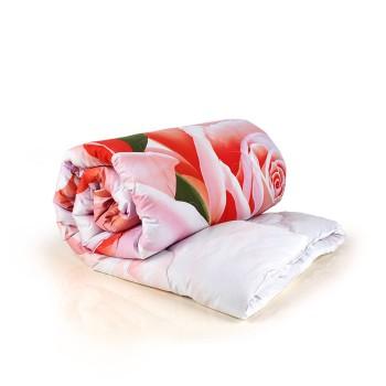 Верблюжья шерсть 2сп. 172х205 всесезонное одеяло сатин