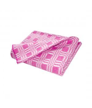 140х205 Байковое одеяло, Стандарт, Комбинированная клетка-Розовый