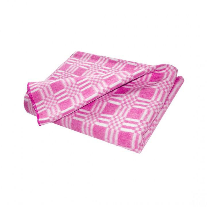 Байковое одеяло стандарт 140х205 Комбинированная клетка-Розовый