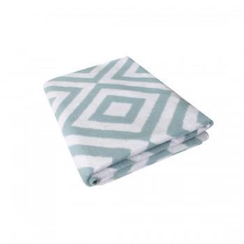 150х212 Байковое одеяло, Премиум, Ромбы, лед