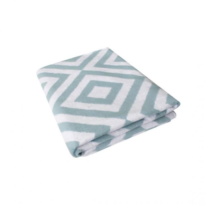 Байковое одеяло 212х150 Премиум, Ромбы, лед