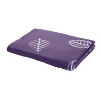 Байковое одеяло 212х150 Премиум, Листья, серый
