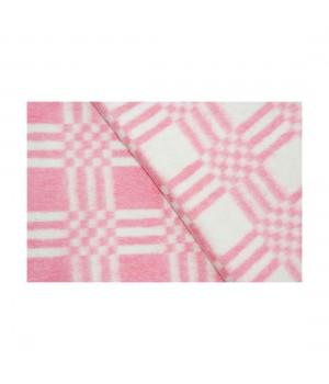 100х140 Байковое одеяло дет, Стандарт, Комбинированная клетка-Красный