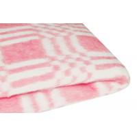Байковое одеяло детское стандарт 100х140 Комбинированная клетка-Красный