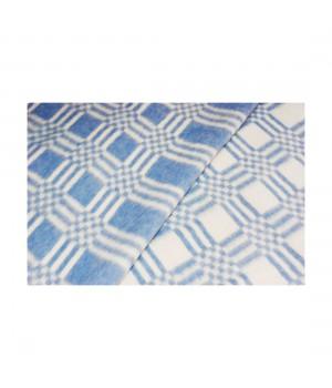 100х140 Байковое одеяло дет, Стандарт, Комбинированная клетка-Синий