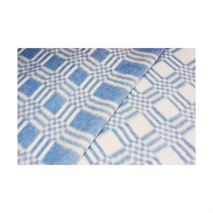 Байковое одеяло детское стандарт 100х140 Комбинированная клетка-Синий