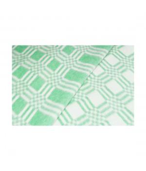 100х140 Байковое одеяло дет, Стандарт, Комбинированная клетка-Зеленый