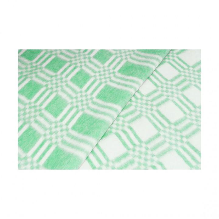 Байковое одеяло детское стандарт 100х140 Комбинированная клетка-Зеленый