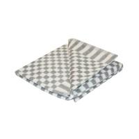 Байковое одеяло детское стандарт 90х112 мелкая клетка - Серый