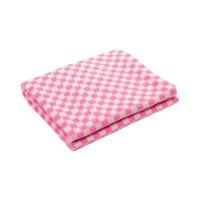Байковое одеяло детское стандарт 100х140 мелкая клетка - Розовый