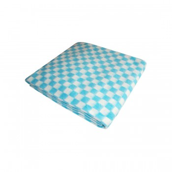 90х112 Байковое одеяло дет, Стандарт, Мелкая клетка-бирюзовый