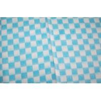 Байковое одеяло детское стандарт 90х112 мелкая клетка - Бирюзовый