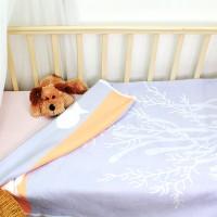 Байковое одеяло детское премиум 100х140 Рыбки