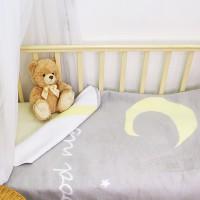 Байковое одеяло детское премиум 100х140 Спокойной ночи