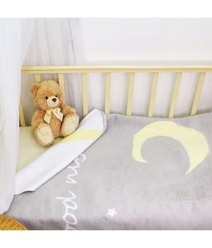 100х140 Байковое одеяло дет, Премиум, Спокойной ночи