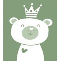 Байковое одеяло детское премиум 100х140 Мишка омела