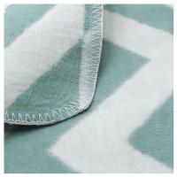 Байковое одеяло детское премиум 118х100  Зигзаги льдистый