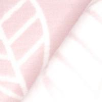Байковое одеяло 212х150 Премиум, Листья, пудра