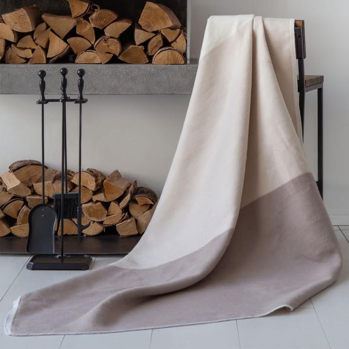 Байковое одеяло 212х150 Премиум, Гамма пудровый
