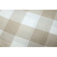 Плед Эдинбург,  размер 140х205 см, п/э, бежевый+белый