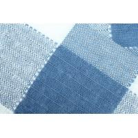 Плед Эдинбург,  размер 140х205 см, п/э, сине-белый