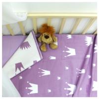 Байковое одеяло детское премиум 118х100 Валериана короны и сердечки