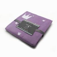 Байковое одеяло детское премиум 100х140 Валериана короны и сердечки