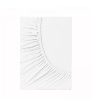 Простыня на резинке трикотаж - Белый