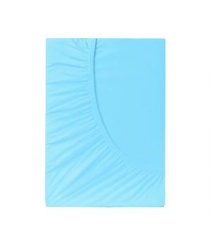 Простыня на резинке трикотаж - Голубой